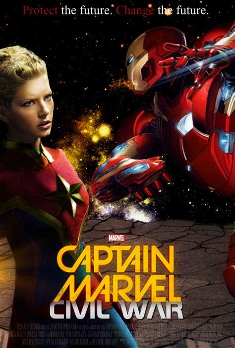 captain marvel marvel s captain marvel civil war poster fm by