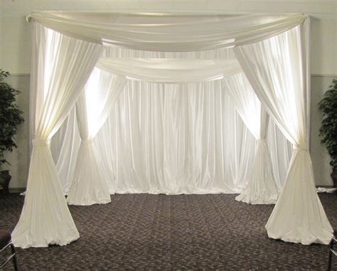 how to make drapes for wedding party people event decorating company wedding chuppah