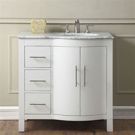 bathroom sink cabinets with marble top 36 inch single sink contemporary bathroom vanity cabinet