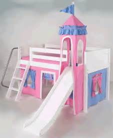 Girls Slide Bed by Toddler Bed With Slide Mini Castle Bed For Girls In