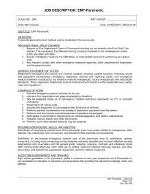 sle career profile for resume sle emt resume summer intern cover letter