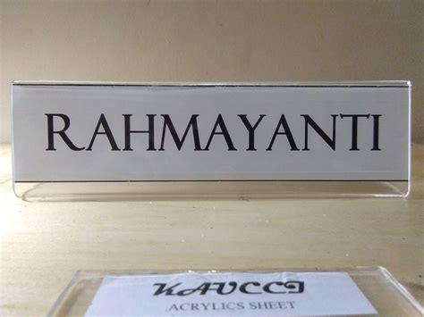 jual acrylic papan nama meja rahmayanti  lapak kaucci