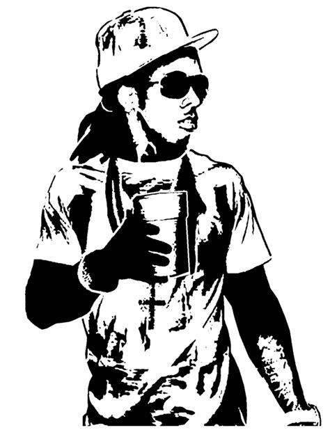 Lil Wayne Coloring Sheets For Kids Drink Beer Lil Wayne Coloring Pages