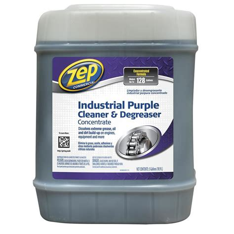 industrial degreaser cleaning solution for hoods shop zep commercial industrial purple cleaner 5 gallon