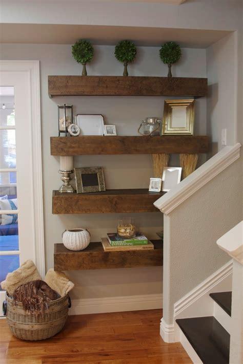 diy shelf decorations simple diy floating shelves tutorial decor ideas simply organized