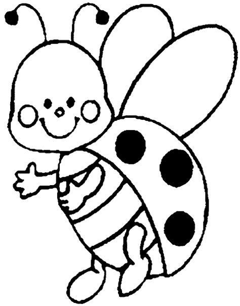 free coloring pages of blank ladybird