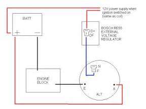 bosch alternator wiring schematic ford alternator wiring