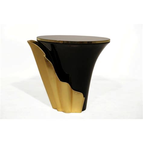 black and gold table superior gold and black side table
