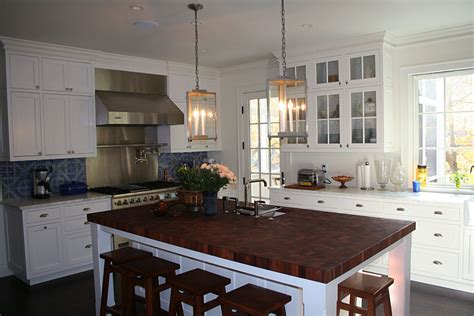 White Kitchen Island With Butcher Block Top Fantastic White Kitchen Butcher Block Island With Viking Residential Gas Ranges Also Kohler Pot
