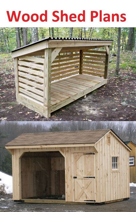 small wood shed plans   storage  fire wood