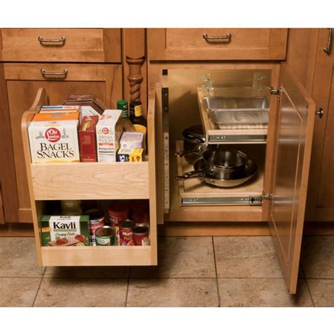Blind Kitchen Cabinet Organizer Kitchenmate Blind Corner Cabinet Organizer By Omega National Kitchensource