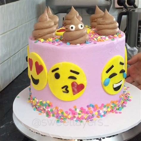 emoji cake 3 659 likes 91 comments sweet layers sweetlayers on