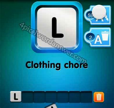 wordbrain themes clothing one clue clothing chore answer 4 pics 1 word game
