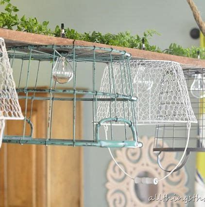 Wire Basket Chandelier 1000 Images About Decor L Light On Industrial L Shades And Wire Baskets