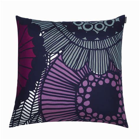 Marimekko Pillow by Marimekko Siirtolapuutarha Violet Throw Pillow Marimekko
