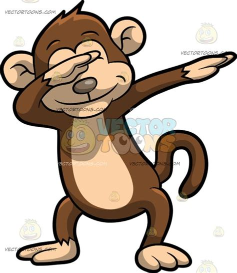 comic clipart a dabbing monkey clipart vector
