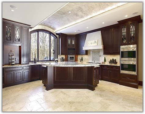 floor kitchen cabinets dark kitchen cabinets and tile floors quicua com