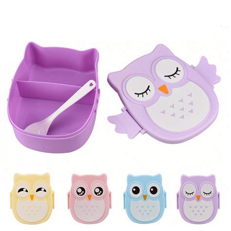 Owl Portable Cutlery Set 1pc korean high quality owl lunch box food
