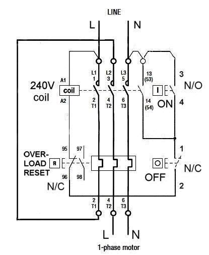 dol motor starter wiring diagram datasheet efcaviation