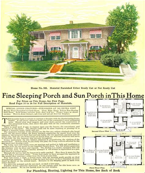 house plans with sleeping porch 266 best images about vintage home plans on pinterest dutch colonial modern homes
