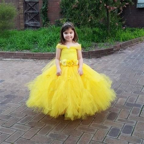 ten beauty and the beast dresses inspired by belle s girls halloween tutu dress beauty and the beast cosplay
