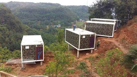 Average Size Kitchen forest container hotel in wanzhou waterfalls projects show