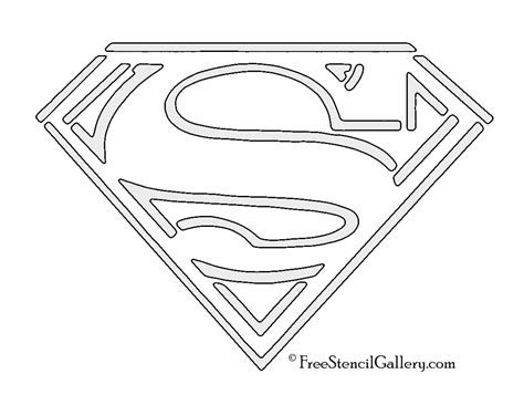 superman stencils www pixshark com images galleries
