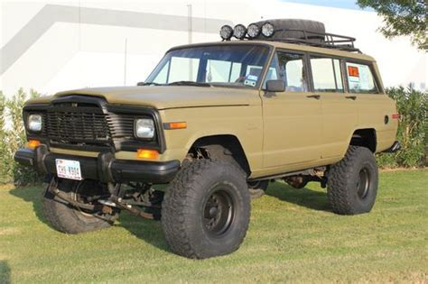 wagoneer jeep lifted buy used 1984 jeep grand wagoneer 4x4 custom lift and
