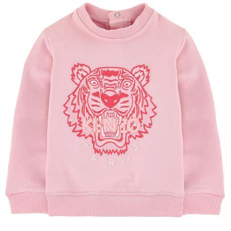 Bulb Sweater Pink 38rb leo kenzo ss16 sweatshirt baby toddler tiger light pink