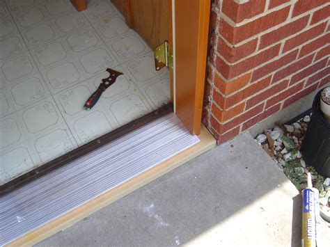 Replace Threshold Exterior Door Aluminum Door Replacing Aluminum Door Threshold