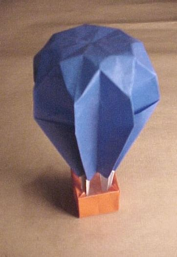 Origami Air Balloon - origami album by anool j mahidharia mumbai india