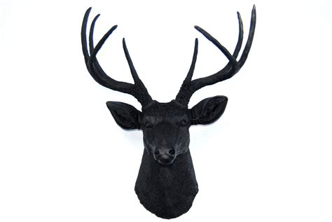 deer head faux deer head wall mount black