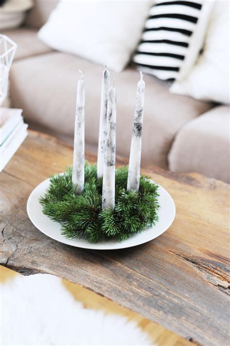 Hohe Kerzen by Diy Einfacher Adventskranz F 252 R Eilige Bonny Und Kleid