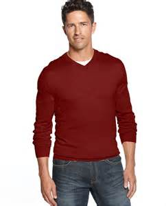 Sweater Rajut Michael v neck sweater club room sweater merino blend v neck