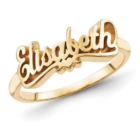 Lettering Ring gold plated sterling silver script letters name ring with