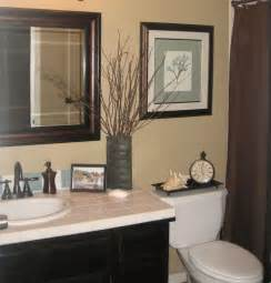 guest bathroom decor ideas quick guest bath makeover total cost 240 chocolate brown blue tan bathroom remodel