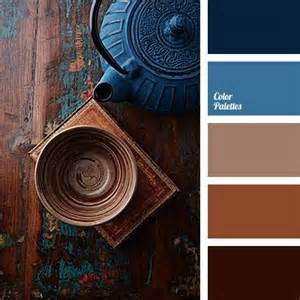 contrasting combination of brown and blue will be