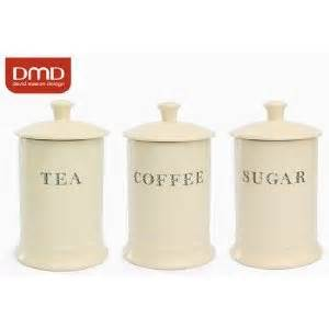 Kitchen Utensil Canister majestic cream ceramic tea coffee sugar storage canisters