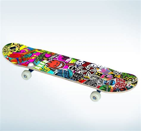 Wall Stickers Create Your Own skateboard decorative sticker tenstickers