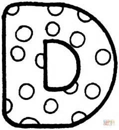 color d dibujo de la letra d para colorear dibujos para colorear