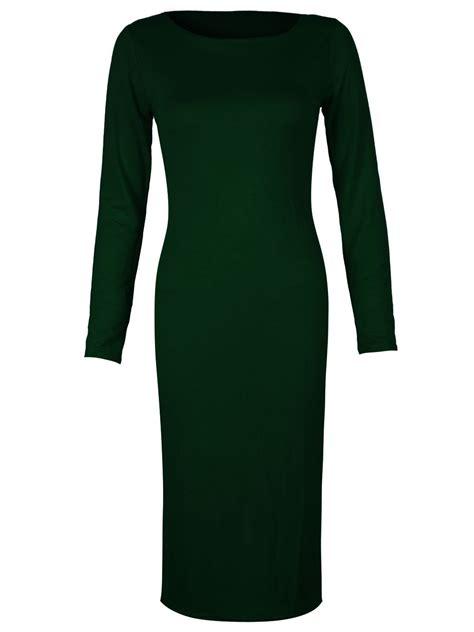 Kls655 1355 Clairine Basic Midi Dress the gallery for gt emerald green sleeve dress