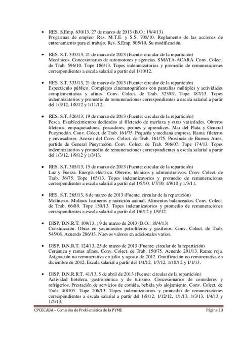 escala salarial del conv colect de trab 56809 rama heladeros novedades de legislaci 243 n abril 2013