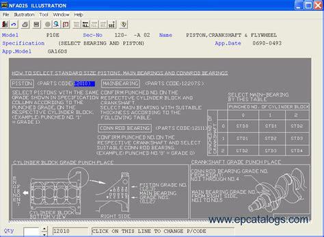 nissan infinity epc gl repair manual cars catalogues