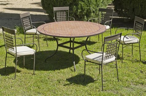 Table Ronde De Jardin 7631 by Table Ronde De Jardin Et 6 Fauteuils Belice Vigo