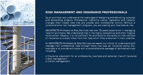 architects professional risk services company profile australian institute of architects