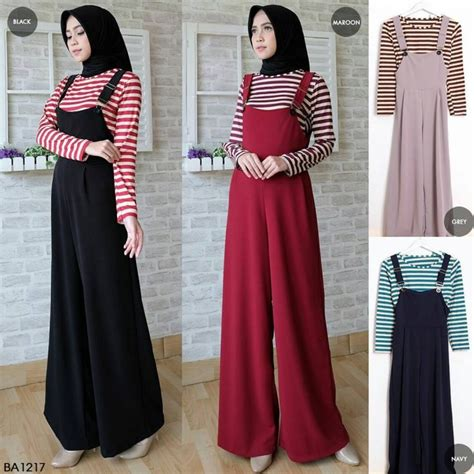 Jumpsuit Pashmina Inner overall jumpsuit slaire ba1217