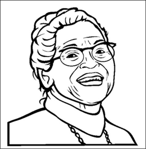 black history month rosa parks coloring page rosa parks clipart clipart best