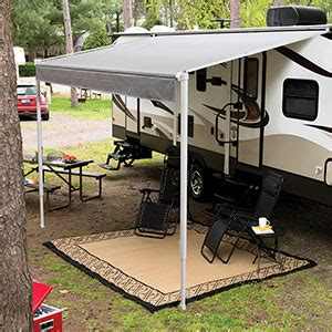 rv roll up awnings solera traditional manual spring roll up rv awning