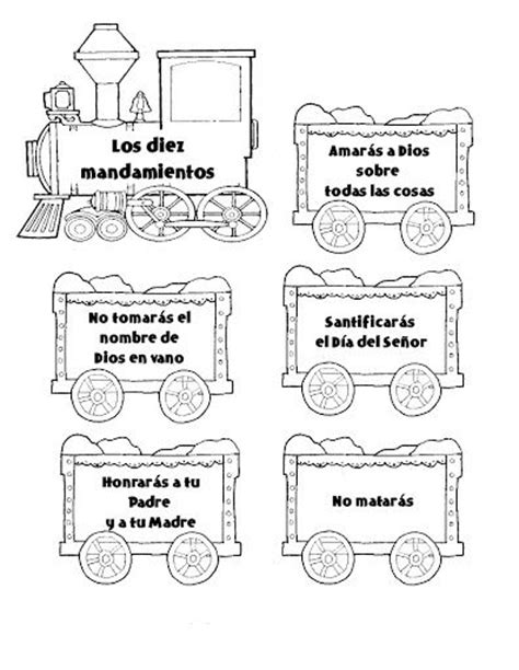 los diez mandamientos para nios free os 10 commandments coloring pages