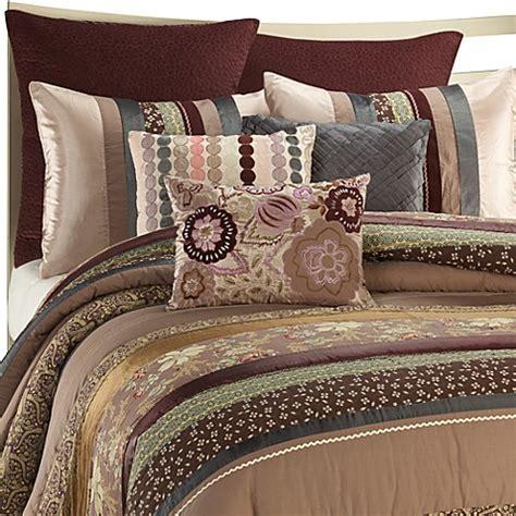 plum stripe king mini comforter set bed bath beyond